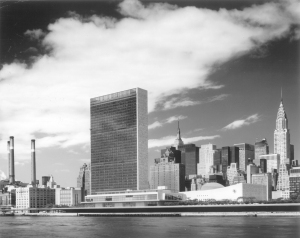 United Nations and Manhattan skyline